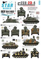 Star Decals 1/35 ZSU-23-4. Oriente y Árabe Guerras #35-C1032