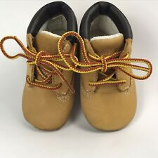 Timberland Crib Bootie Baby Wheat Genuine Leather Ankle Boots Size UK 0.5 US 1