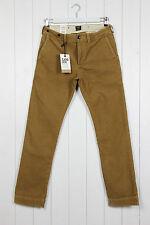 NUOVO Lee 101 Slim chino jeans FILI velluto a coste Nocciola Marrone W32 L32