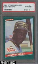 1986 Donruss Rookie #11 Barry Bonds Pittsburgh Pirates RC PSA 8 NM-MT