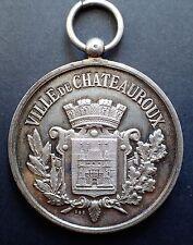 MEDAILLE  Concours Gymnastique Ville de Chateauroux 1893 en argent (A630)
