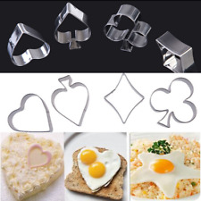 Poker Cookie Cutters Stainless Steel Kitchen Biscuit Mould Set Cake Decor Baking