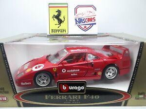 """1:18 Ferrari F40 """"Marlboro"""" Sponsor 1992 rouge Bburago Transfo"""