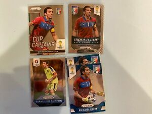 Panini Prizm 5 card lot of Italy Goal Keeper Gianluigi Buffon