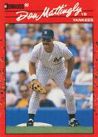 Don Mattingly 1990 Donruss   #190 New York Yankees Card