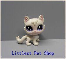 Cute lps Littlest  Pet  cat  w purple eyes figure #Kd55