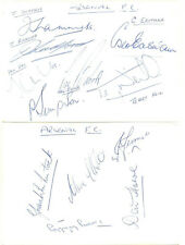 Arsenal F.C. signed autograph album pages 1960s John Radford Terry Neill Ian Ure