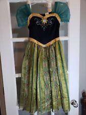 Frozen Princess Anna Costume Dress Green Black 7/8