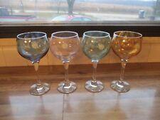 Cystal Clear Made In Turkiye Tall Pastel Crystal Wine Glasses Set (4) ~Mint~