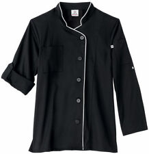 Five Star Women's Long Sleeve Soft Stretch Down Front Executive Chef Coat. 18504