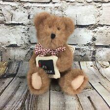 "Boyds Bears The Head Bean Collection  #1 Teacher  8"" Tall Stuffed Plush Doll"