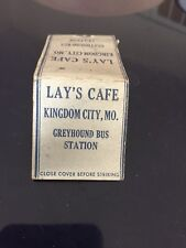 Matchbook Cover - Lay's Cafe Kingdom City MO Greyhound Bus Station