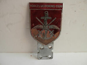 Forces Motoring Club. Car Club Badge. By Ludlow of London.