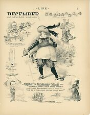 1896 Political Cartoons Current Events of December President Cleveland Satolli