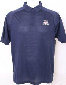NEW Arizona Wildcats Colosseum Athletics Navy Collared Polo Shirt Men's L