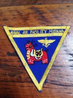 US Military Naval Air Facility Misawa Japan Embroidered Triangle Patch