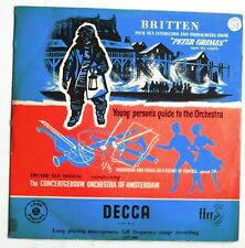 Britten: Young Person's Guide to Orchestra - LP - Orchestra of Amsterdam - RARE