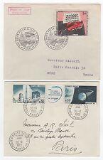 France  5 FDC enveloppes timbres 1er jour des années 60 /FDC169