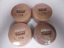 4 MAYBELLINE DREAM MATTE MOUSSE FOUNDATION -ASSORTED-   EXP: 7/18+  RR 20785