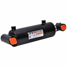 """Hydraulic Cylinder Welded Double Acting 4"""" Bore 10"""" Stroke Cross Tube 4x10 NEW"""