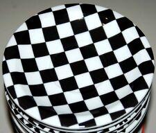 CHECKERS Bopla Porzellan 13cm Espressoteller Serie Black & White