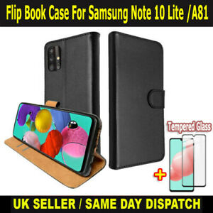 Leather Flip Cover Book Case Wallet For Samsung Galaxy Note 10 Lite/A81 & M60S