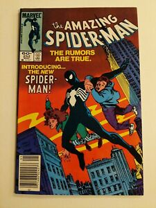 The Amazing Spider-Man #252 Newstand 1st Black Suit Spider-Man