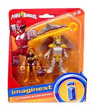 Imaginext Scorpina & King Sphinx figure set Mighty Morphin Power Rangers MINT