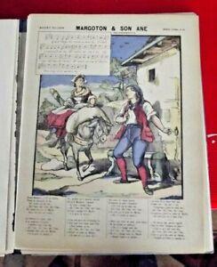 Image d'Epinal Pellerin 1900 n°33 Margoton & son Ane Art Print Ancienne Chanson
