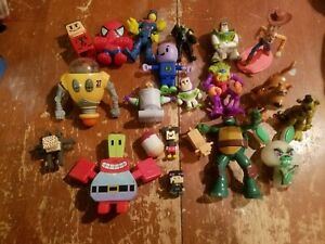 Lot of 20 Mixed  Small Action Figures Toy Story TMNT