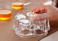 Crystal Teapot Heating Base, Glass Teapot Warmer, Heart Shape Heat Resistant