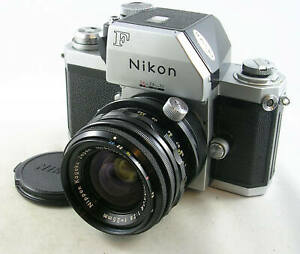 FINE 1973 Nikon F w/PC-NIKKOR 1:2.8 f=35mm Lens, Cap and Case