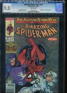 Amazing-Spiderman # 321 CGC 9.8 Mark Jewelers Insert UPC Variant Ed