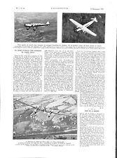 Avion trimoteur  transport Dewoitine-332 long-courrier France ILLUSTRATION 1933