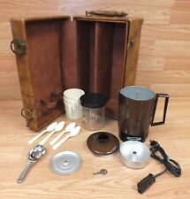 Genuine Vintage Empire Travel Size Percolator With Case, Spoons & Cups! **READ**