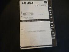 Original Service Manual Schaltplan AIWA CSD-SR600