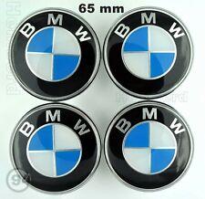 4x Logo Autocollants bleu noir centre de jantes BMW 65 mm cache moyeu de roue