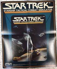 "STAR TREK Starship Tactical Combat (1986) FASA Games 13 x 16"" promotional poster"