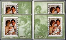 Niue 1982 SG#MS474 Christmas, Prince William MNH M/S Set (4 Designs) #D38010