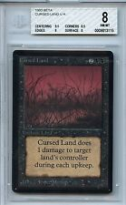 Magic the Gathering WOTC MTG Beta Cursed Land NM-MT BGS 8.0 Card 1993 3115