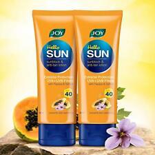 Sunblock & Anti-Tan Lotion With Papaya Saffron,Sun Screen Lotion,SPF40 - 60ml X2