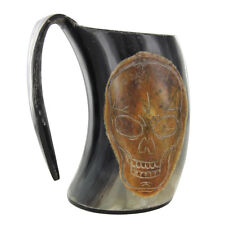 Handmade Unique First Mates Finest Horn Pirate Rum Ale Beer Medieval Tankard