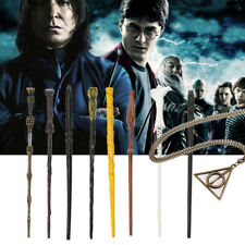 "8PCS Set Harry Potter 14"" Magical Wand Cosplay Voldemort Dumbledore + Necklaces"