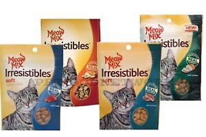Meow Mix Irresistibles Cat Treat 3oz Asst Flavor