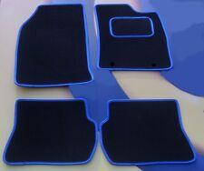 FORD FIESTA & ST RHD 02 - 08 Nero/Blu Tappeti Tappetini Auto Bordo con clip B