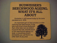 Beer Coaster <^> Anheuser-Busch BUDWEISER ~*~ What is BEECHWOOD AGING All About?