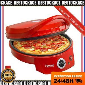 Bestron Four A Pizza Filaire Electrique Gril Plaque En Pierre 180°C 1800 W FR