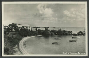 Bermuda: c.1930s RPPC Real Photo Postcard BEACH AT SOMERSET