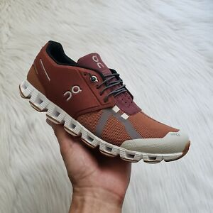 On Cloud 70/30 Running Shoes Brick/Pecan Mens Size 9