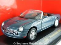 FORD THUNDERBIRD 2003 MODEL CAR 1/43 SIZE BLUE 2 DOOR OPEN TOP TYPE Y0675J^*^